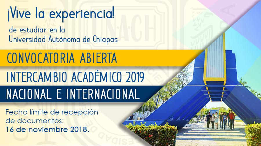 Convocatoria de Intercambio Nacional e Internacional Enero Julio 2019