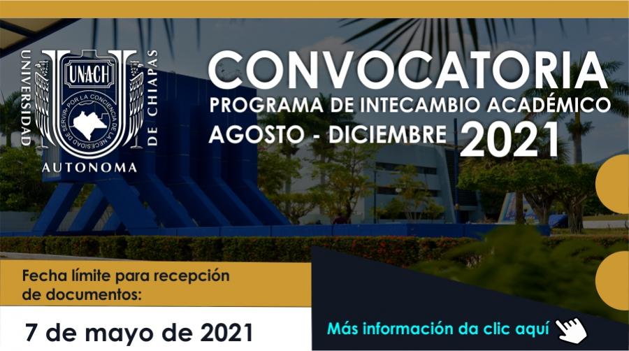 Convocatoria Programa Intercambio Académico Agosto Diciembre 2021